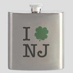 I Shamrock NJ Flask