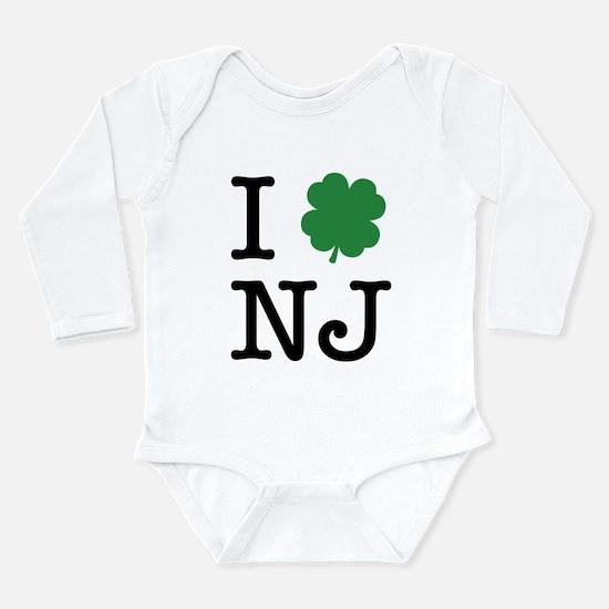 I Shamrock NJ Long Sleeve Infant Bodysuit