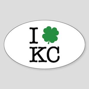 I Shamrock KC Sticker (Oval)