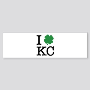 I Shamrock KC Sticker (Bumper)