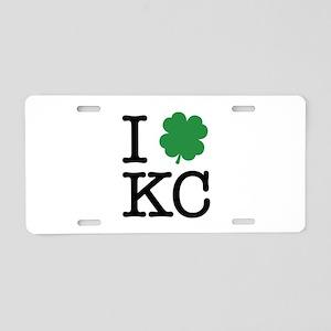 I Shamrock KC Aluminum License Plate