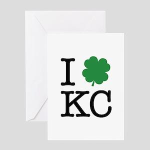 I Shamrock KC Greeting Card