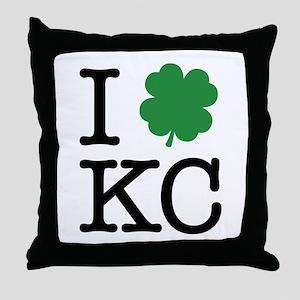 I Shamrock KC Throw Pillow