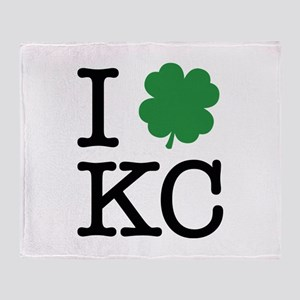 I Shamrock KC Throw Blanket