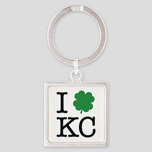 I Shamrock KC Square Keychain