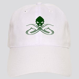 Skull and Saxophone Green Baseball Cap