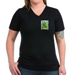 Bampfield Women's V-Neck Dark T-Shirt
