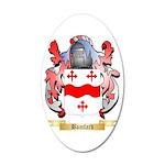 Bamfard 35x21 Oval Wall Decal
