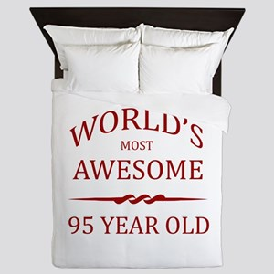 World's Most Awesome 95 Year Old Queen Duvet