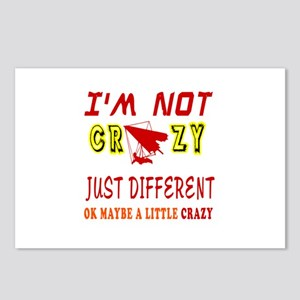 I'm not Crazy just different Hang Gliding Postcard
