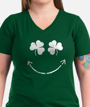 Shamrock Eyes Irish Smile T-Shirt