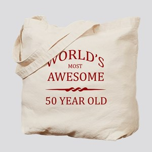 World's Most Awesome 50 Year Old Tote Bag
