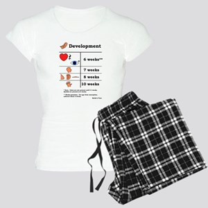 Fetal Development (black print) Pajamas