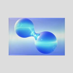 Hydrogen molecule - Rectangle Magnet (10 pk)