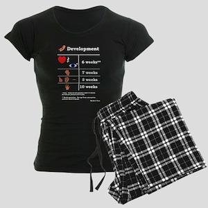 Fetal Development (white print) Pajamas