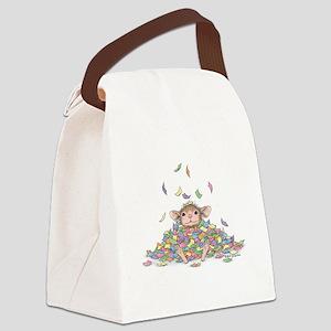 Raining Confetti Canvas Lunch Bag