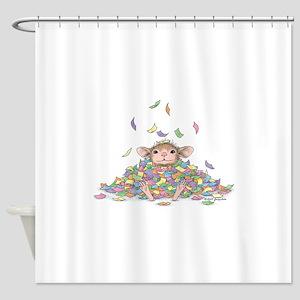 Raining Confetti Shower Curtain