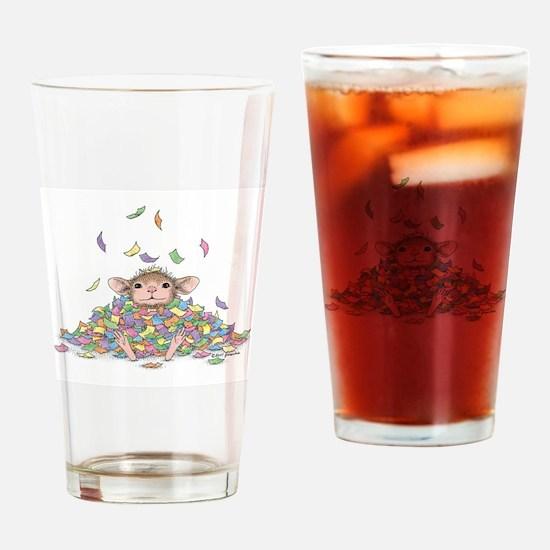 Raining Confetti Drinking Glass