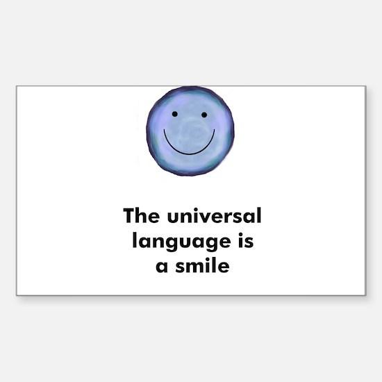 The universal language is a s Sticker (Rectangular