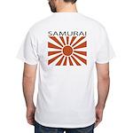 Samurai Back White T-Shirt