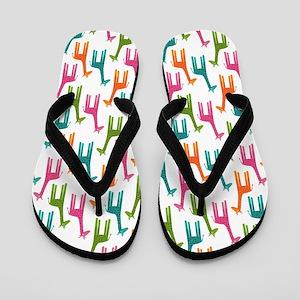 Giraffes Multicolor Flip Flops