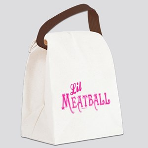 Lil Meatball Canvas Lunch Bag
