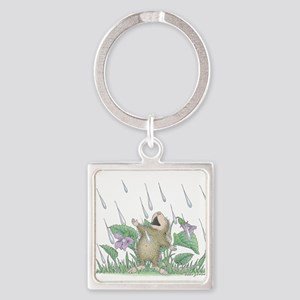 Singing in the Rain Square Keychain