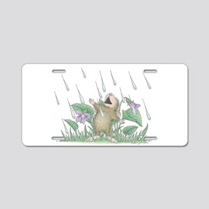 Singing in the Rain Aluminum License Plate