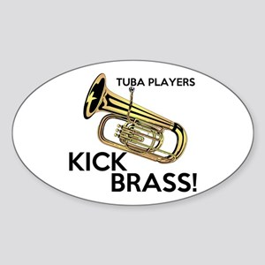 Tuba Players Kick Brass Sticker