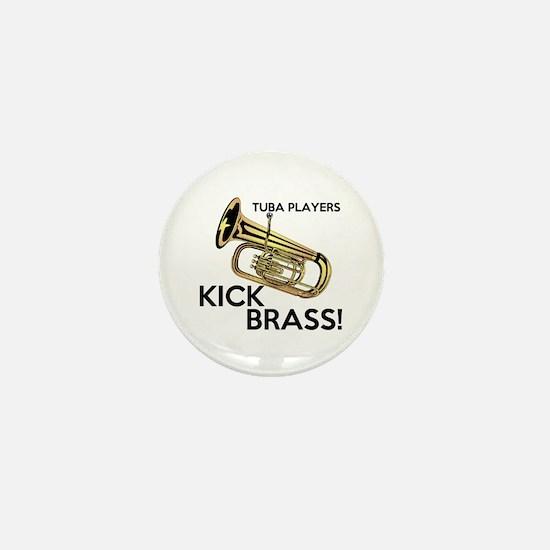 Tuba Players Kick Brass Mini Button
