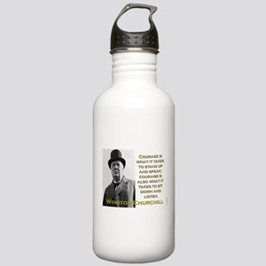 Courage Is What It Takes - Churchill Water Bottle