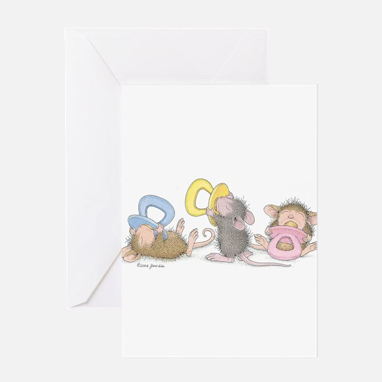 Mice Babies Greeting Card