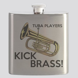 Tuba Players Kick Brass Flask