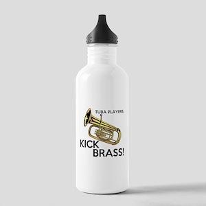 Tuba Players Kick Brass Water Bottle