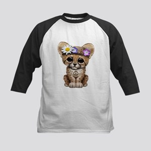 Cute Cheetah Cub Hippie Baseball Jersey
