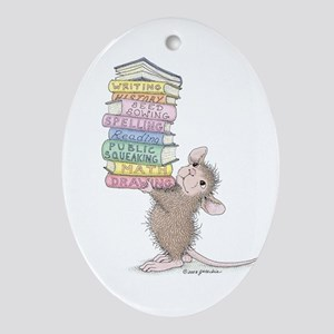 Smarty Pants Ornament (Oval)