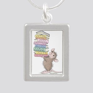 Smarty Pants Silver Portrait Necklace