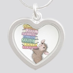 Smarty Pants Silver Heart Necklace