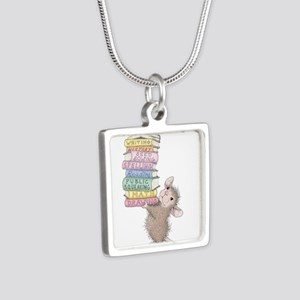 Smarty Pants Silver Square Necklace