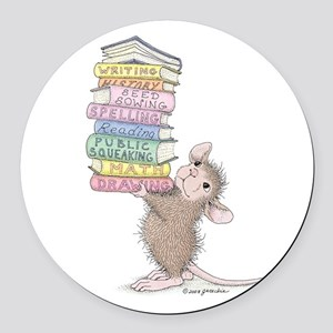 Smarty Pants Round Car Magnet