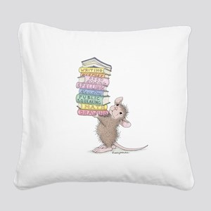 Smarty Pants Square Canvas Pillow