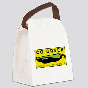 Go Green: New Mexico Green Chile Canvas Lunch Bag