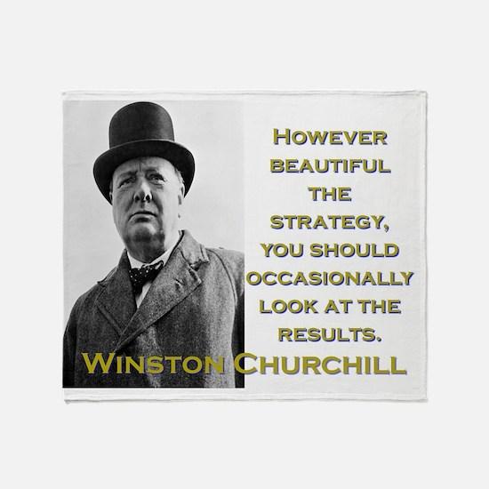 However Beautiful The Strategy - Churchill Throw B