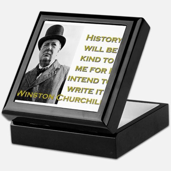 History Will Be Kind To Me - Churchill Keepsake Bo