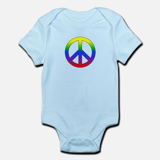 Rainbow Peace Sign Body Suit