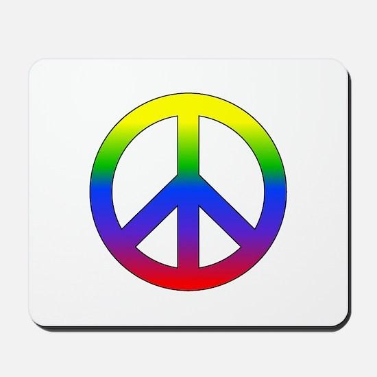 Rainbow Peace Sign Mousepad