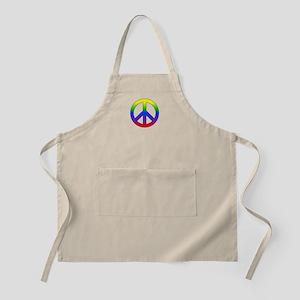Rainbow Peace Sign Apron