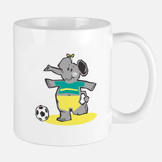 Cute Soccer Elephant Mug