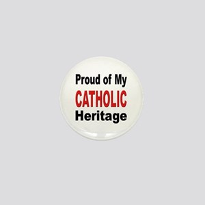 Proud Catholic Heritage Mini Button