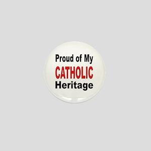Proud Catholic Heritage Mini Button